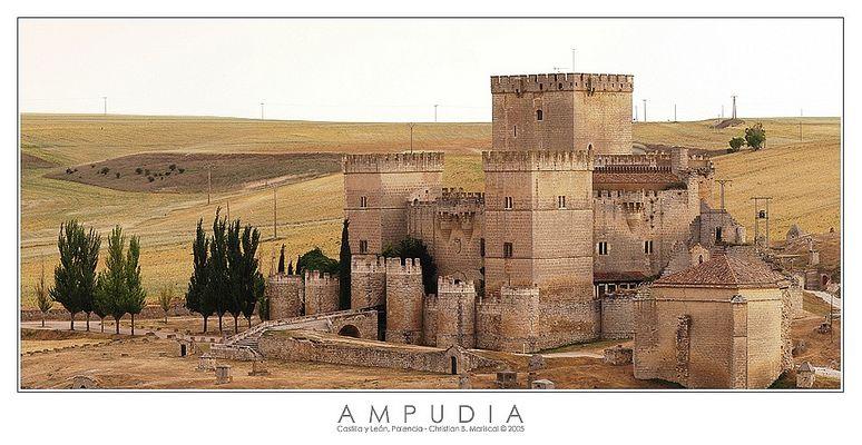 Burg von Ampudia (Castilla y León, Spanien)
