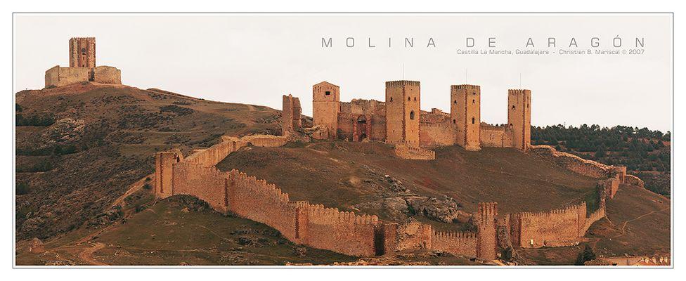 Burg von Molina de Aragón (Castilla La Mancha, Spanien)