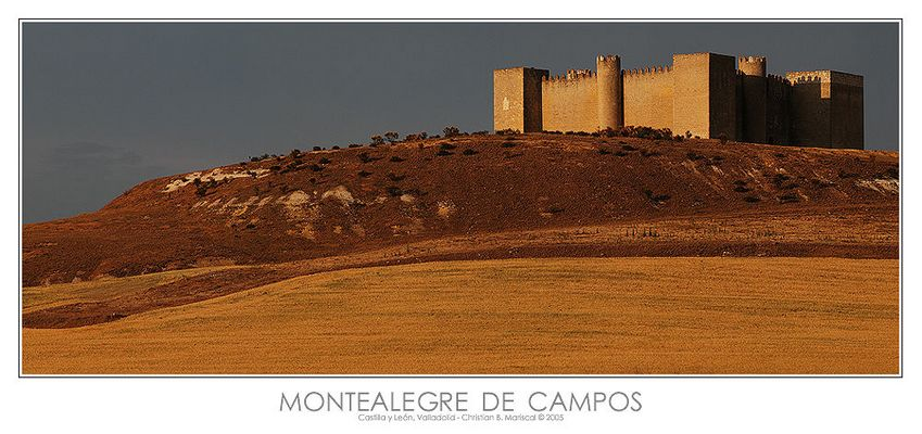 Burg von Montealegre de Campos (Castilla y León, Spanien)
