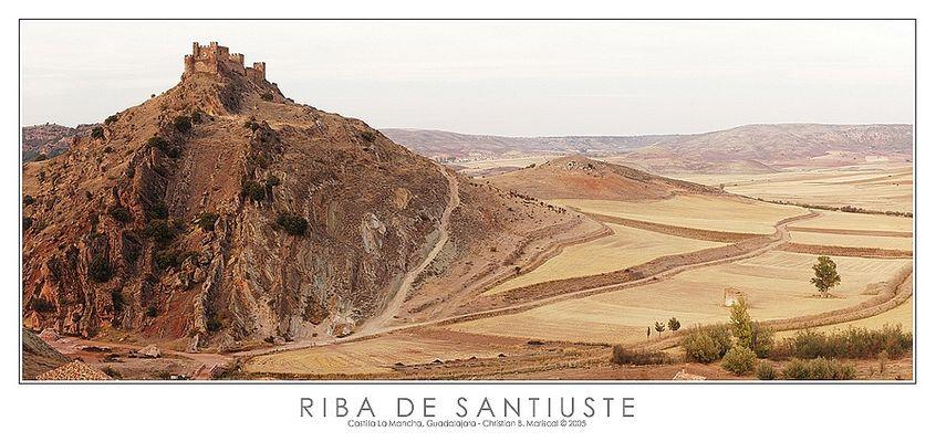 Burg von Riba de Santiuste (Castilla La Mancha, Spanien)