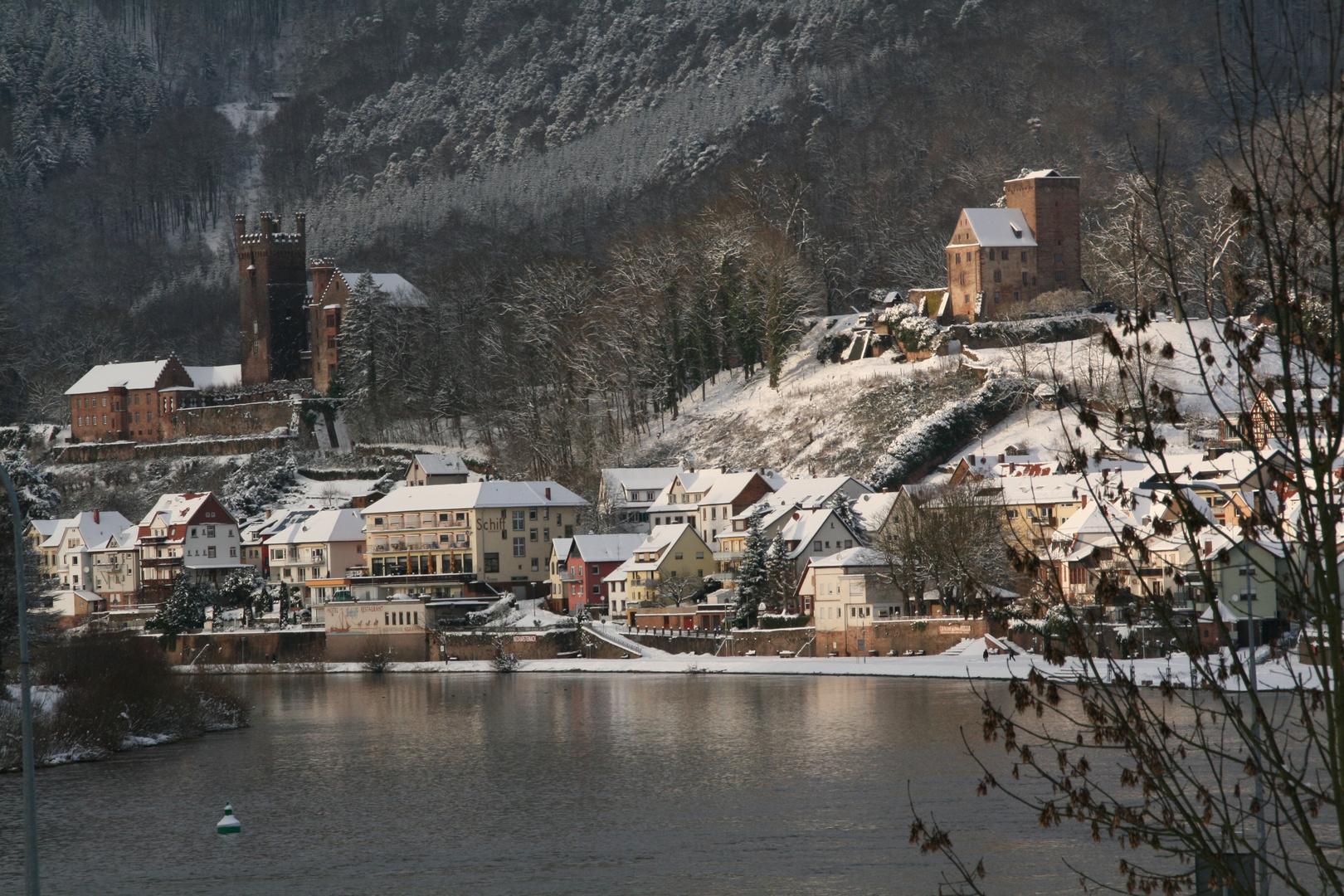 Burgen Blick im Winter