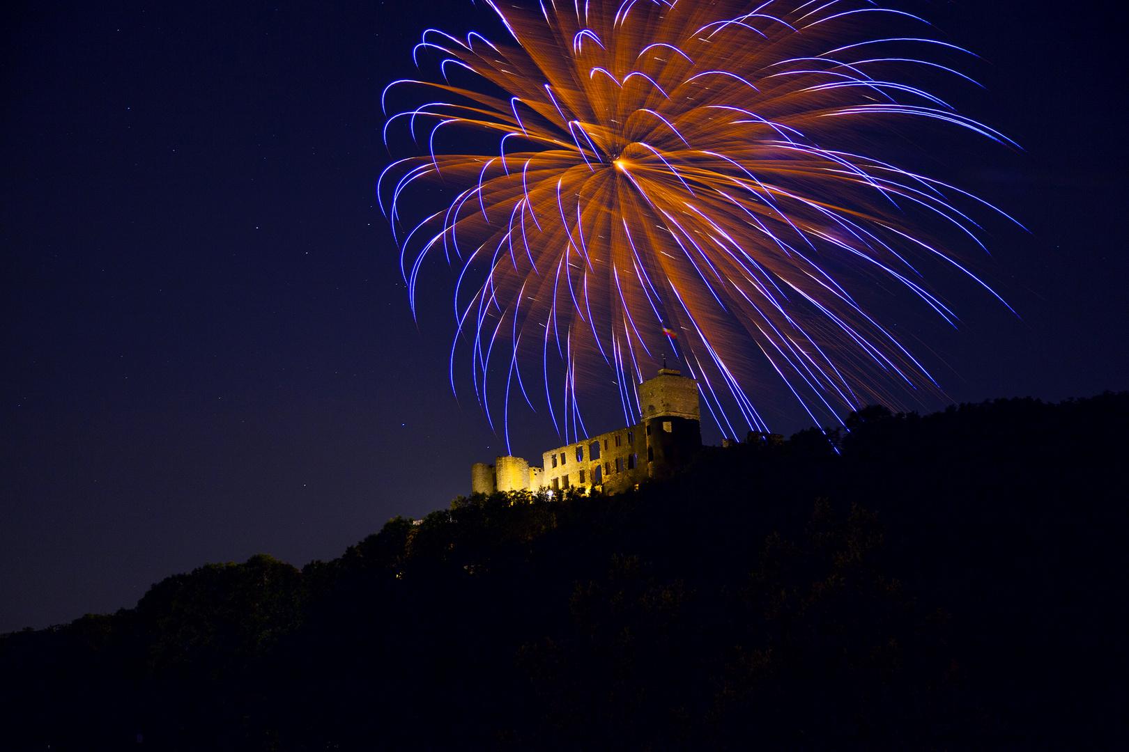Burgfest Königstein | Feuerwerk 2013