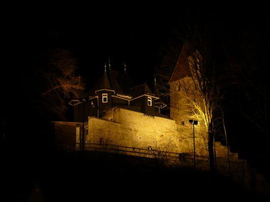 Burghalde Kempten bei Nacht