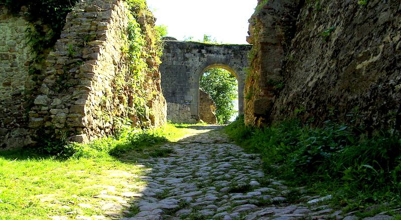 Burgruine Donaustauf in der Nähe von Regensburg.....