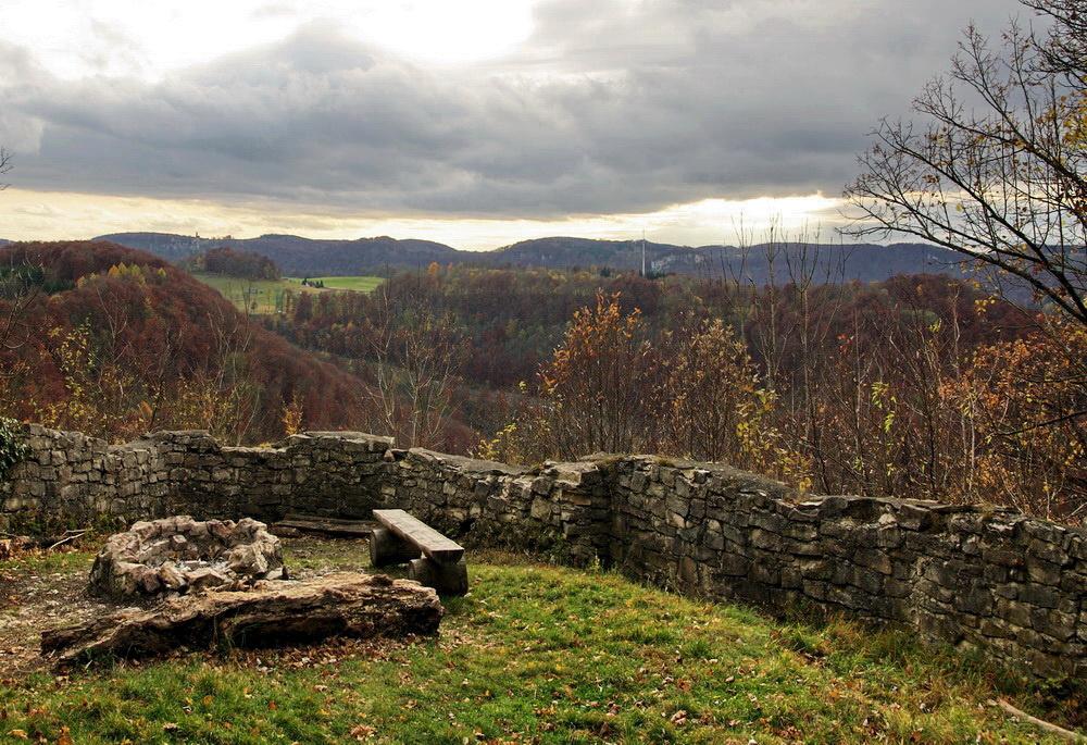 Burgruine Greifenstein auf der Schwäbischen  Alb