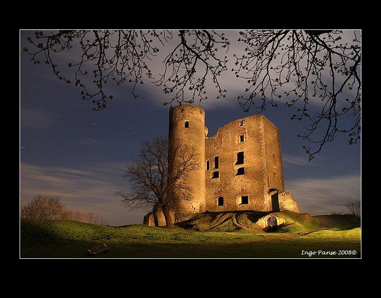 - Burgruine in heller Mondnacht -