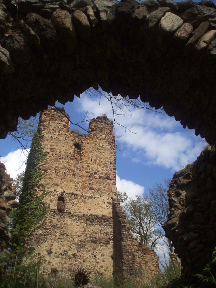 Burgruine in Straszow / Polen