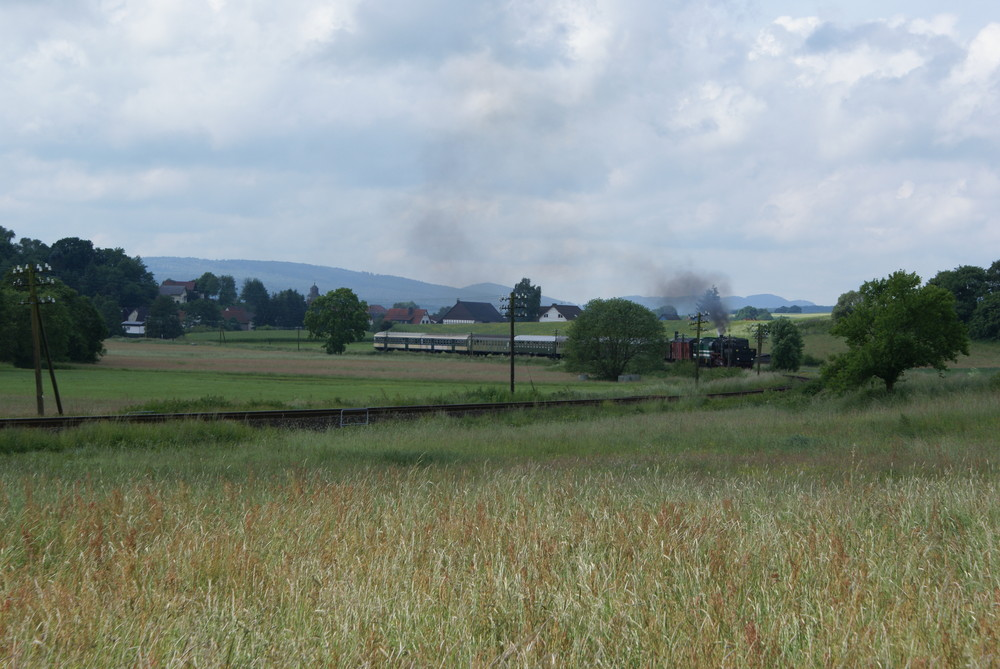 Burgwaldbahn Ausfahrt Münchhausen