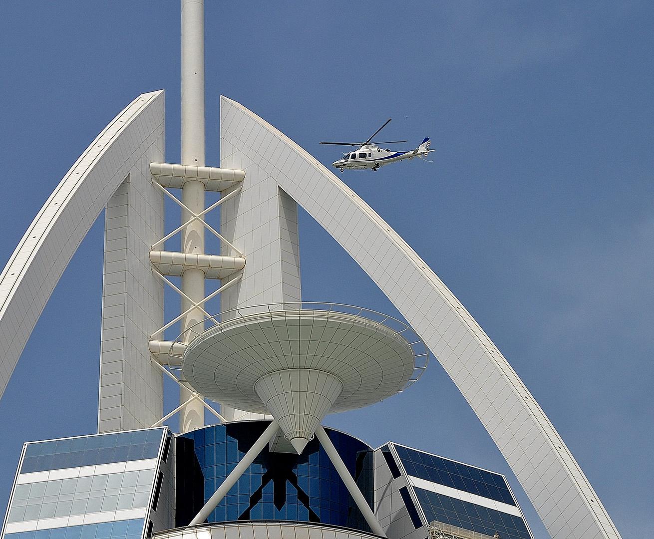 Burj Al Arab - landing