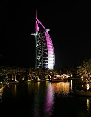 burj al arab @ night