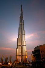 Burj Dubai in golden dawn