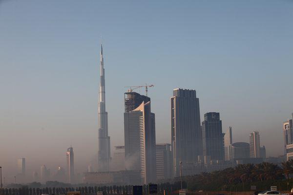 Burj Khalifa in den Morgenstunden