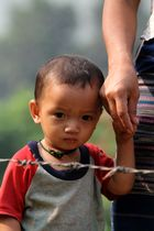 Burmese refugee with mother
