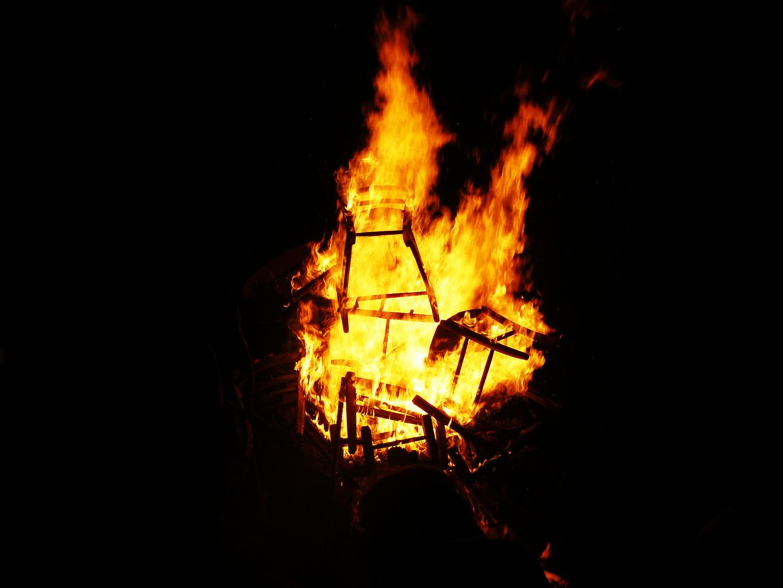 burning chairs