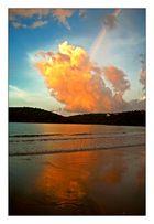 Burning Skies with Rainbow
