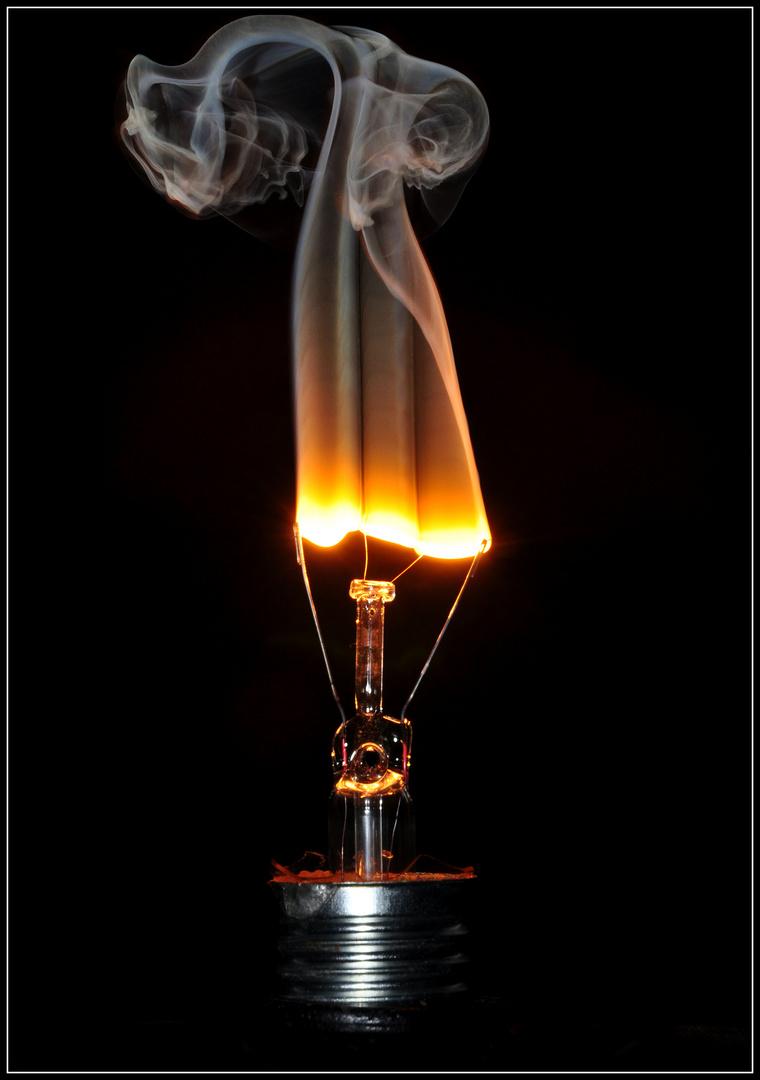 Burnout einer Glühlampe