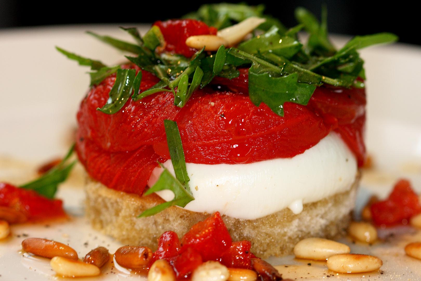 Burrata-Tomaten Törtchen