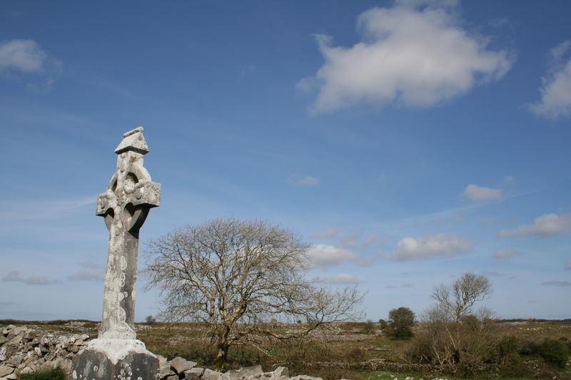 Burren - cimetière proche Kilfenora