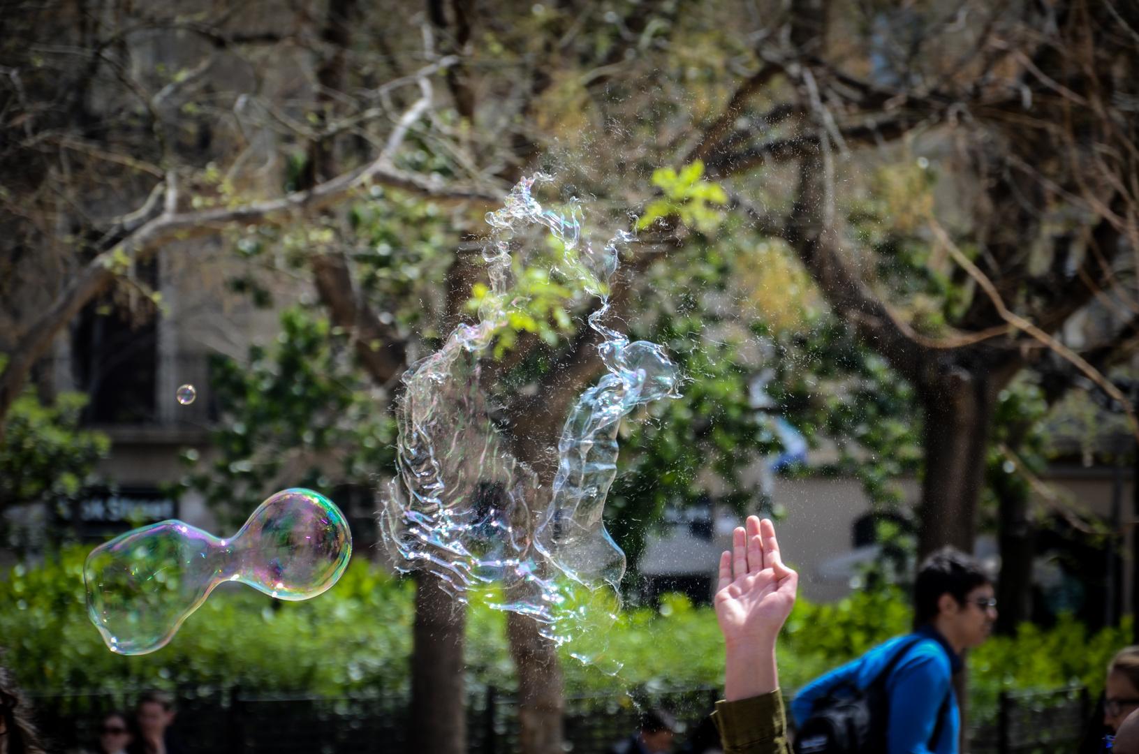 bursting soap Bubble