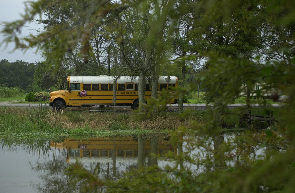 Bus scolaire en Louisiane