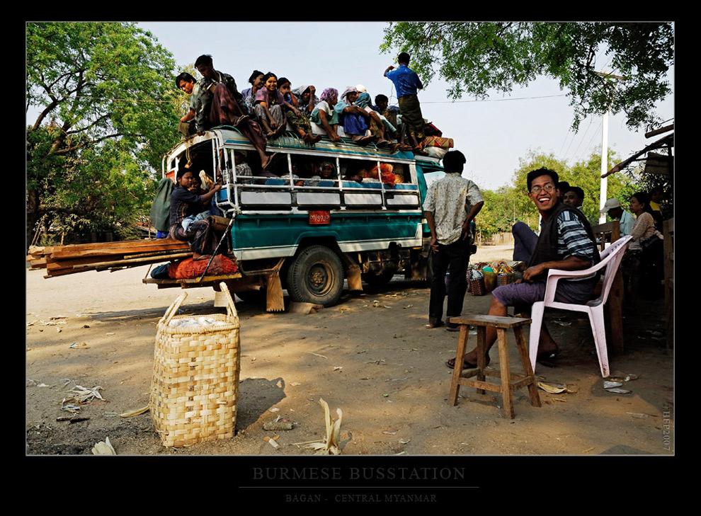 Busbahnhof auf Burmesisch...