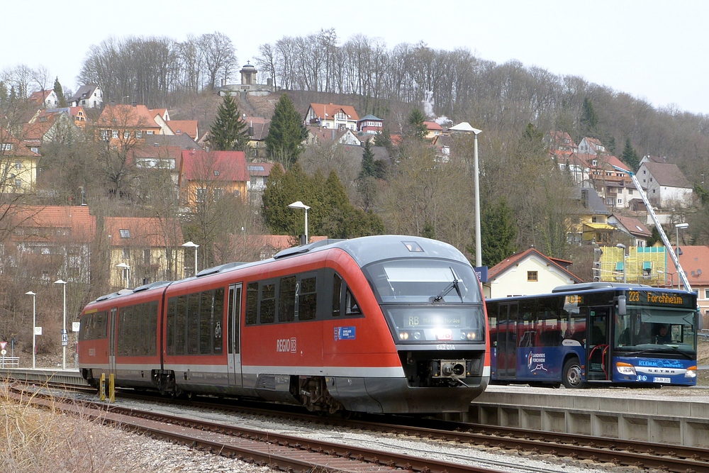 Busbahnhof mit Gleisanschluß