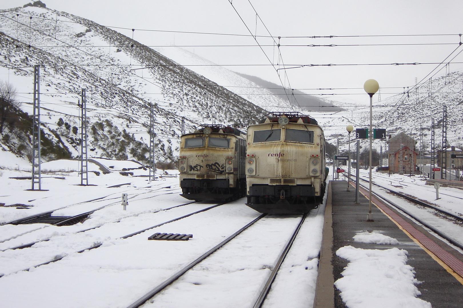 Busdongo railway station, Pajares pass; Northern Spain.