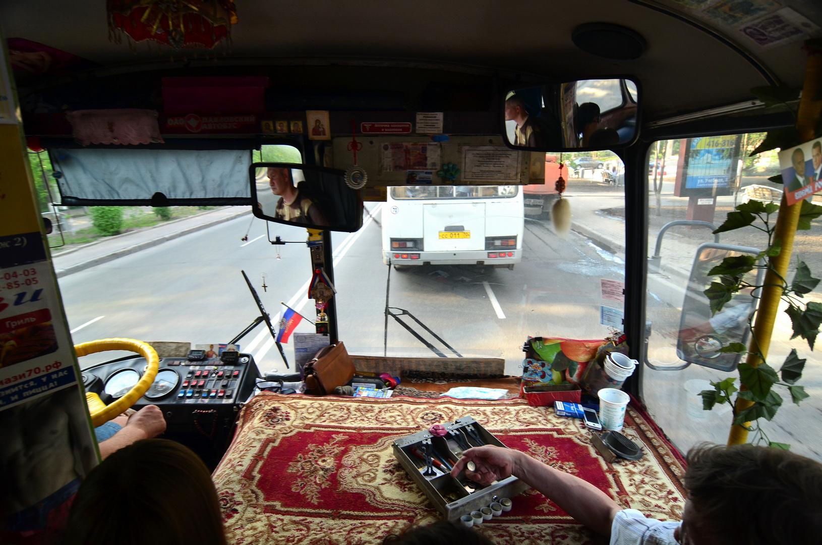 Busfahren in Russland