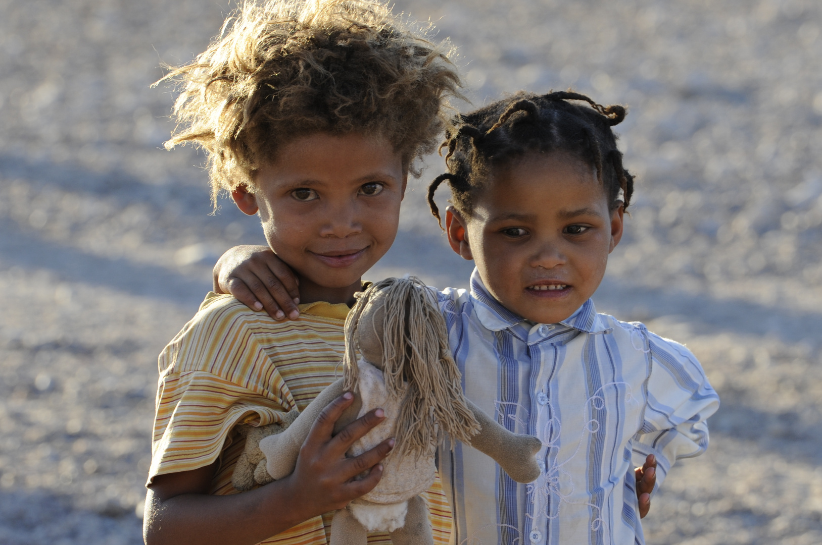 Bushmengirls in Namibia