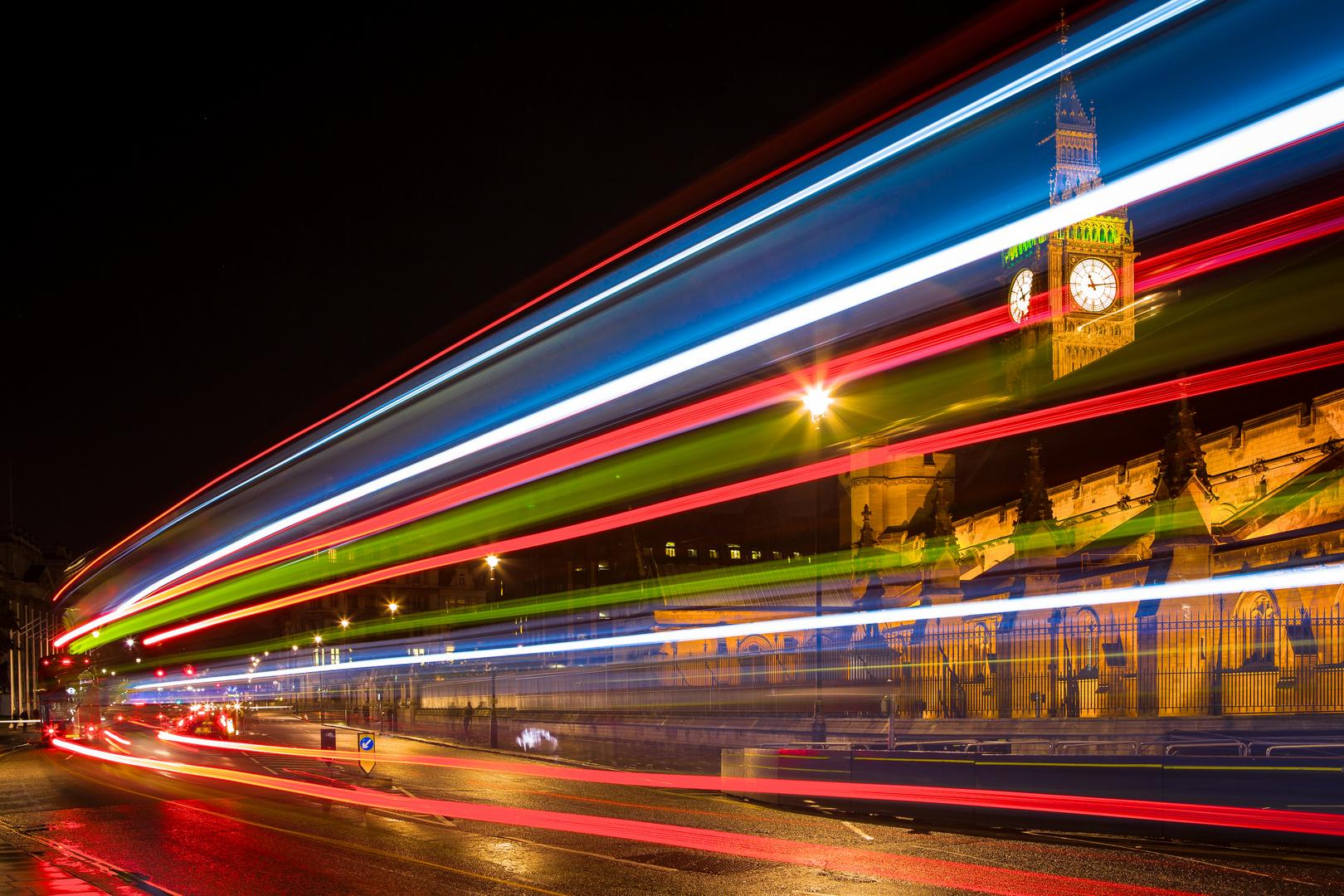 Busstreiflicht in London