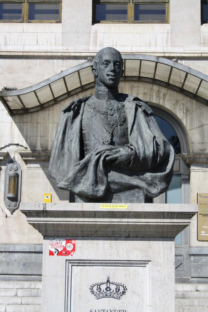 Busto de Alfonso XIII en Santander