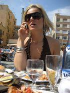 busy girl in barcelona