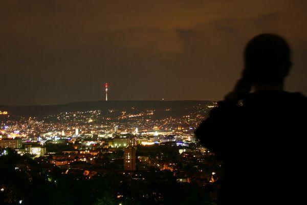 Busy Stuttgart by Night