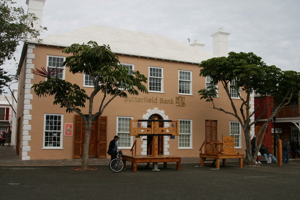"""Butterfield Bank"" in St. George Bermuda"