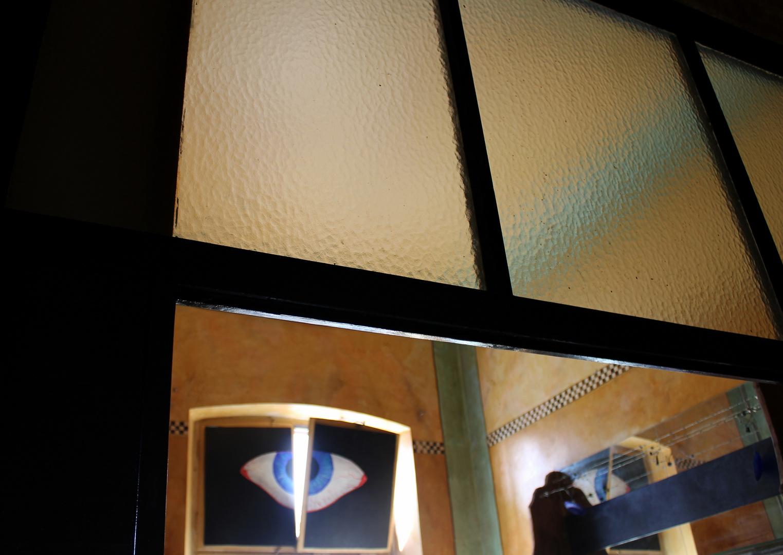 Butterflyeyes in a window