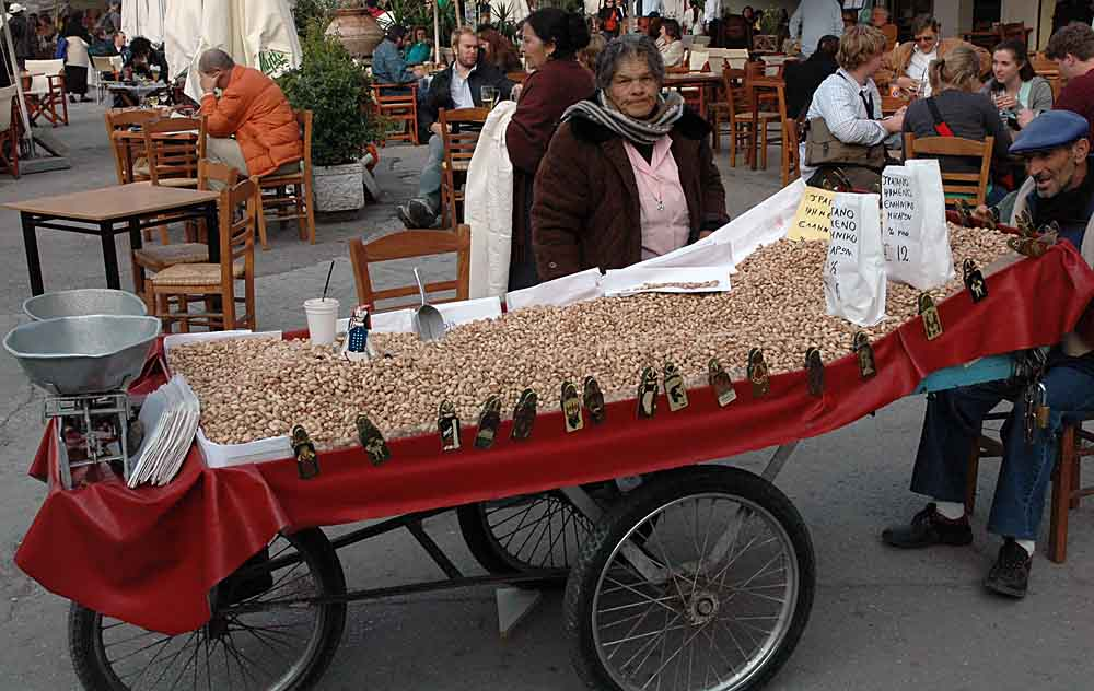 buying pistachios in Athens