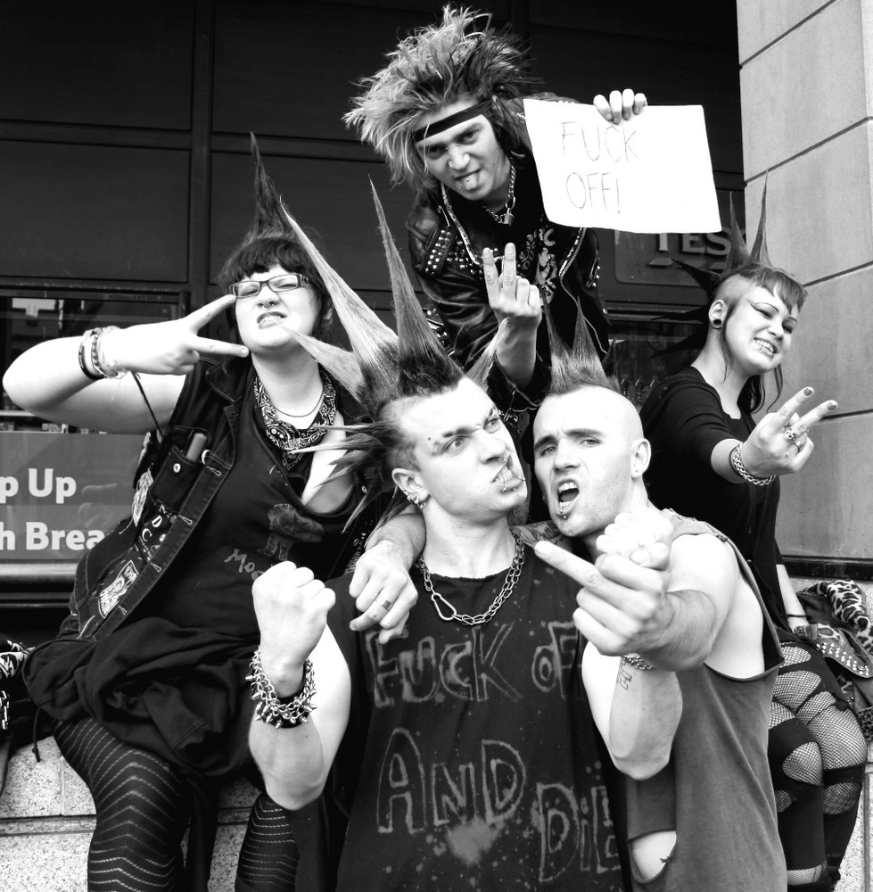 B/W London Punks