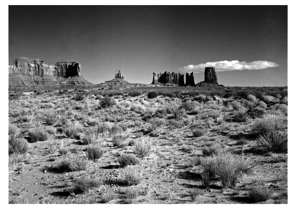 B&W Monument Valley 2