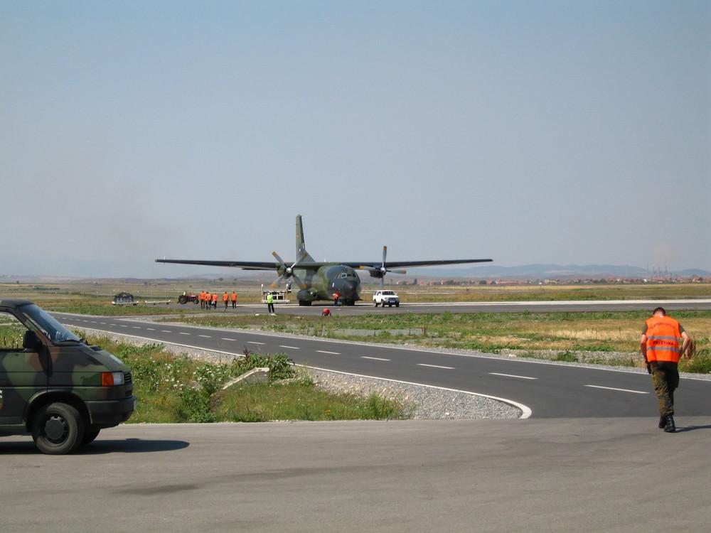 C160 im Landeanflug