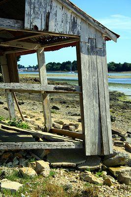 Cabane abandonnée sur l'Ile Chevalier (Bretagne)