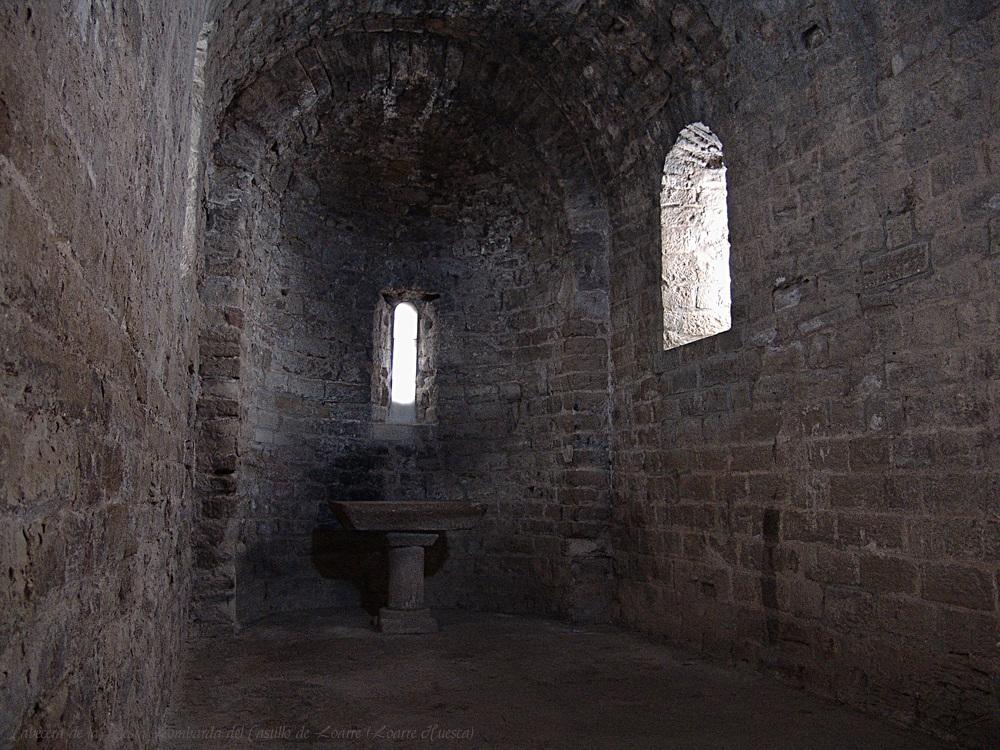 Cabecera de la Iglesia Lombarda del Castillo de Loarre (Loarre Huesca)