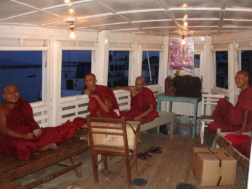 Cabin boat for Monks at Bagan Pier