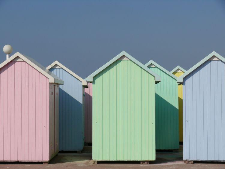 cabines de plage, berck sur mer