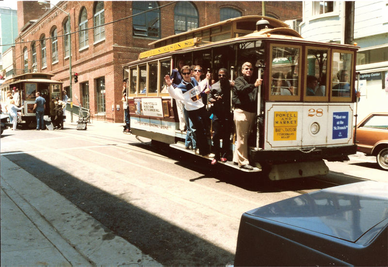 Cablecar in San Francisco 1987, Scan vom Positiv