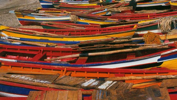 Cabo Verde - Boote am Strand