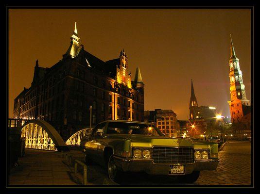 Cadillac in der Speicherstadt