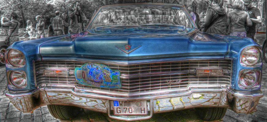 Cadillac in spezieller HDR Grunge Bearbeitung.