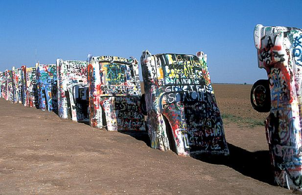 Cadillac-Ranch bei Amarillo TX