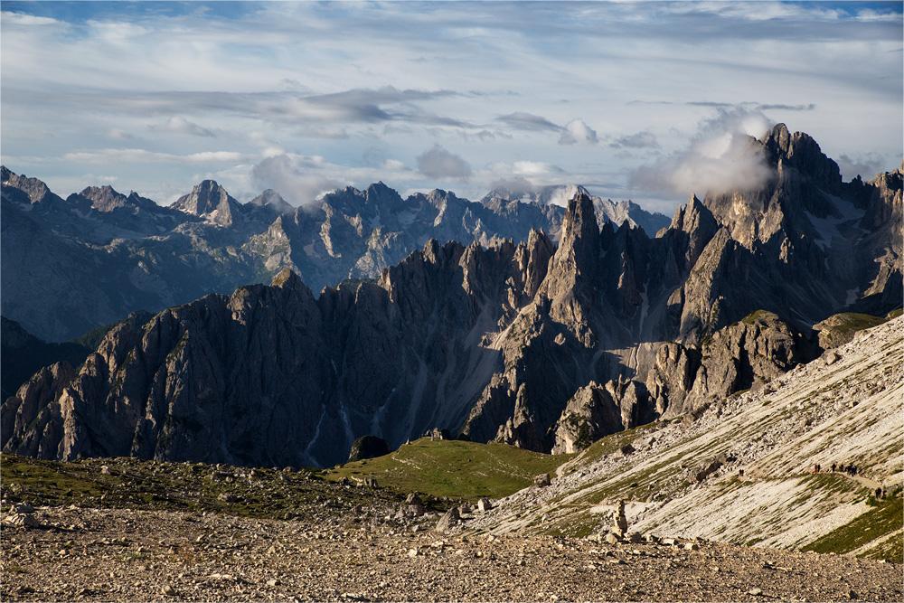 Cadini-Spitzen - oder das Wölckchen am Gipfel