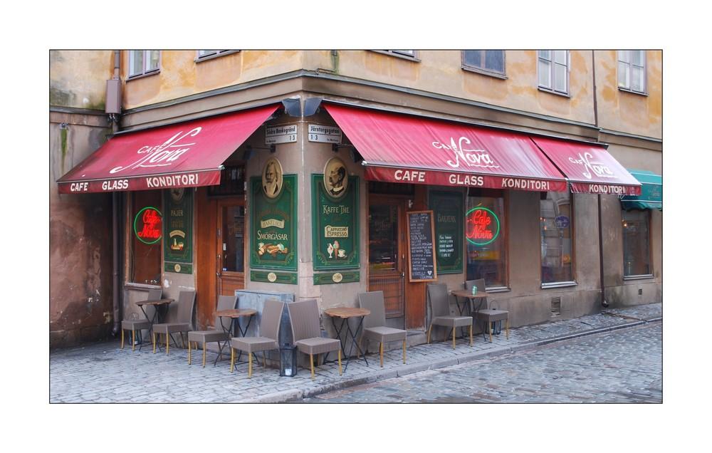 Cafe in der Stockholmer Altstadt